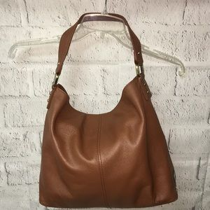 KOOBA brown leather hobo bag